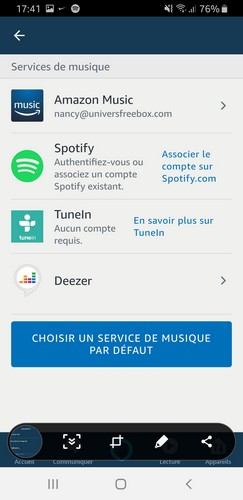 Association Spotify à Amazon